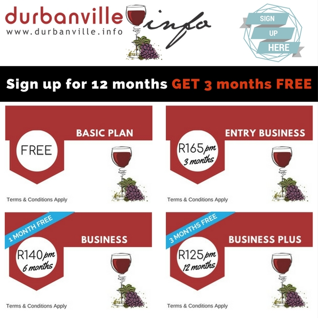 DurbanvilleINFO Limited Specials OFFER